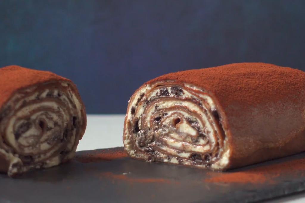 【免焗蛋糕】6步自製日式免焗甜品食譜  Oreo忌廉毛巾卷