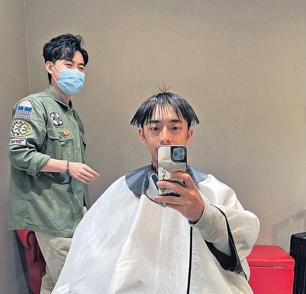 Edan@MIRROR 曬「十兄弟」髮型