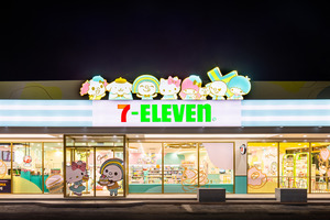 【台灣便利店】台灣7—11再開Sanrio主題店   布甸狗/Hello Kitty多個角色造型打卡位!