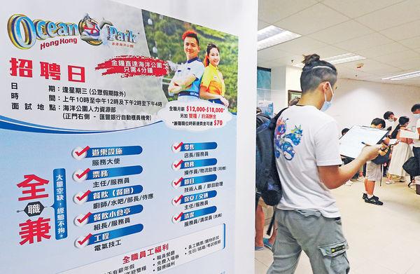 海洋公園招聘120空缺 月薪最高$1.7萬 15至24歲青年 中三學歷都得