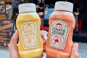 【台灣美食】台灣超打卡茄汁芥末醬造型飲品   新鮮金鑽鳳梨汁/車厘茄汁好吸引!