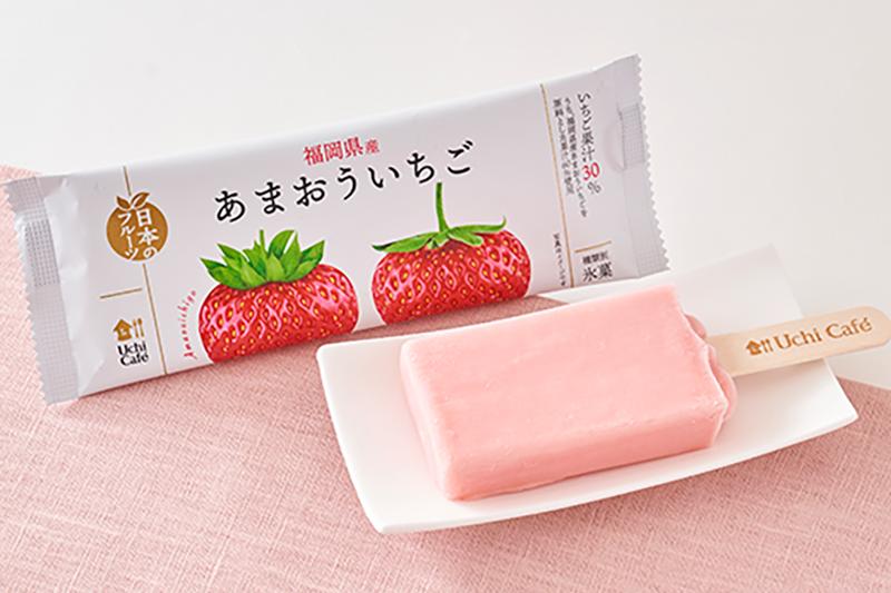 【日本便利店2021】日本福岡甜王草莓雪條新登場 30%士多啤梨果汁製成/酸甜莓味濃!