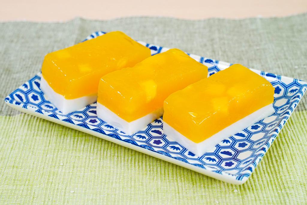 【夏日甜品】5步整出夏日消暑甜品食譜  雙層芒果椰汁糕