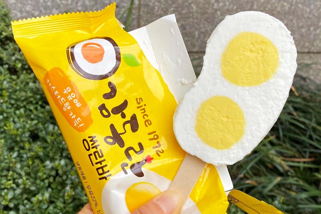 【韓國便利店2021】超可愛太陽蛋雪條登陸韓國便利店 牛乳雪糕+吉士雪糕扮雞蛋!
