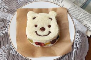 【韓國Cafe推介2021】韓國Cafe小熊維尼水果三文治 可愛Pooh Pooh造型打卡一流!