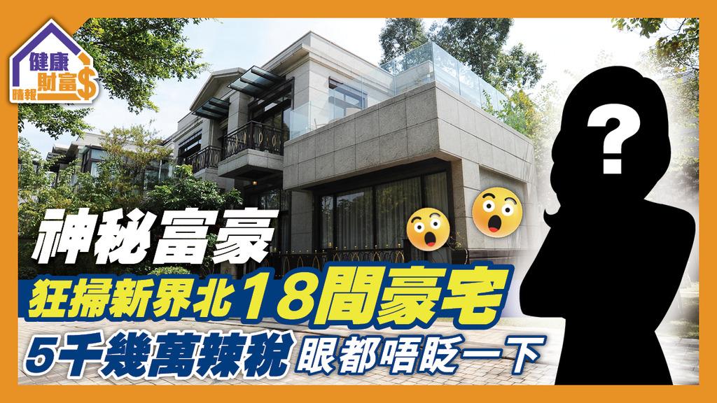 【超級豪客】神秘富豪狂掃新界北18間豪宅 畀5千幾萬辣稅眼都唔眨一下