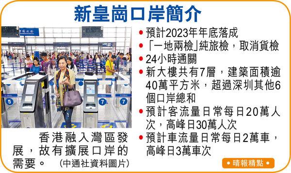 新皇崗口岸超級樞紐 2023年底落成 多條軌道便利北上