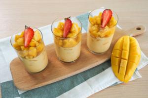【芒果布甸食譜】簡單2步零失敗芒果布甸食譜(啫喱粉版) 內有切芒果方法