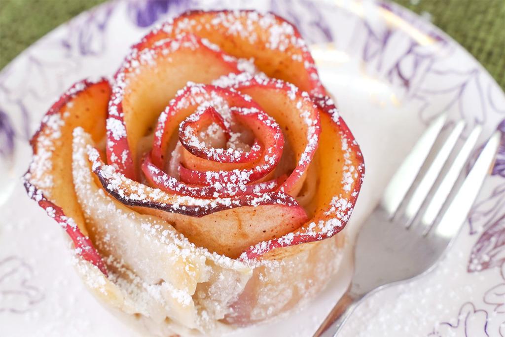 【母親節食譜】母親節甜品!4步新手零失敗打卡甜品食譜  玫瑰蘋果撻