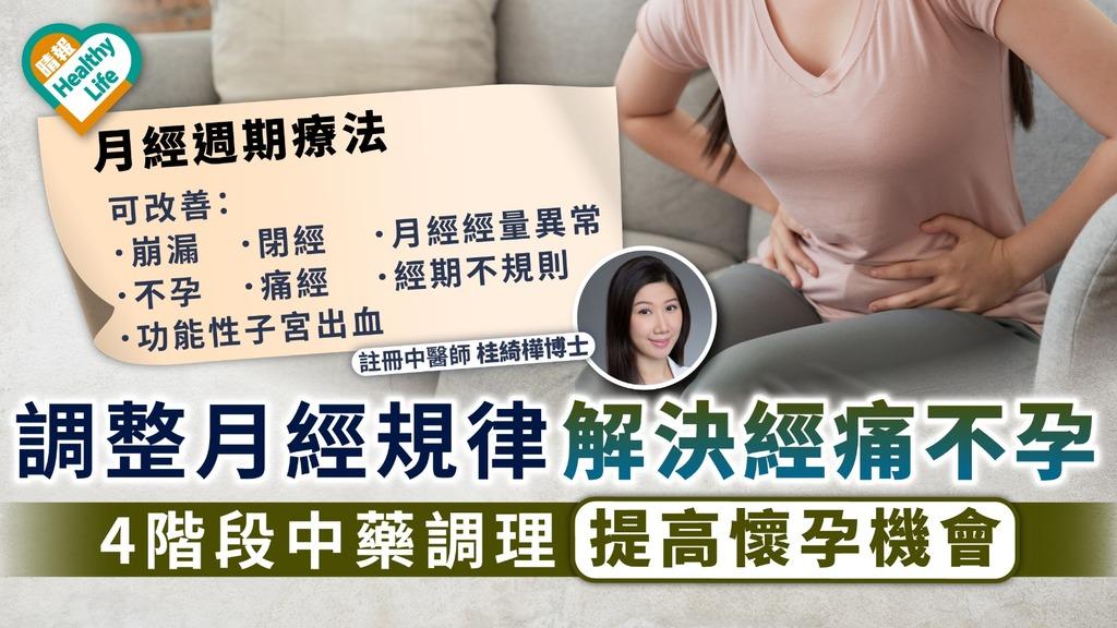 月經週期療法|調整月經規律解決經痛不孕 4階段中藥調理提高懷孕機會