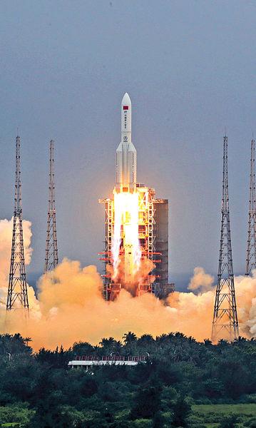 零件大氣層燒毀 長征火箭殘骸墜印度洋