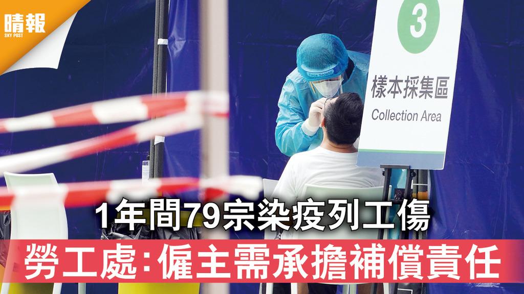 新冠肺炎|1年間79宗染疫列工傷 勞工處:僱主需承擔補償責任