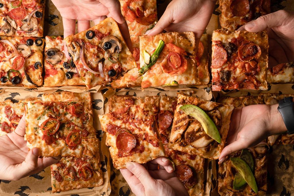 【中環美食】中環新開美食廣場Graham St Food Hall 美式煙燻三文治/Pizza/La Vina巴斯克芝士蛋糕