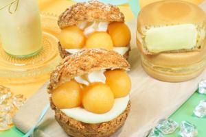 【Sweets House Cha Cha】日式超市city'super 新出日本蜜瓜甜品 靜岡皇冠蜜瓜泡芙/原個赤肉蜜瓜雪糕/布丁/大判燒