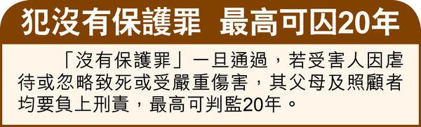首4月虐兒案急增6成 法改會倡訂「沒有保護罪」 幼教界憂誤墮法網