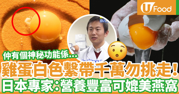 【雞蛋營養】雞蛋白色繫帶營養豐富如燕窩  日本專家公開3大神秘雞蛋繫帶功能