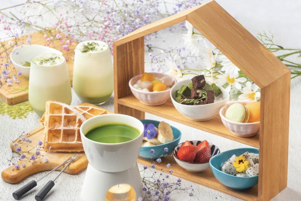 【尖沙咀下午茶】尖沙咀Pound & Roll全新抹茶牛奶鍋下午茶!抹茶拿鐵/自家製布朗尼蛋糕/窩夫