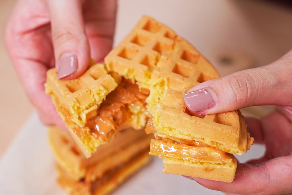 【急凍格仔餅】可保存6個月!摩芽雞蛋仔推出急凍格仔餅   外脆內軟/附有花生醬+煉奶