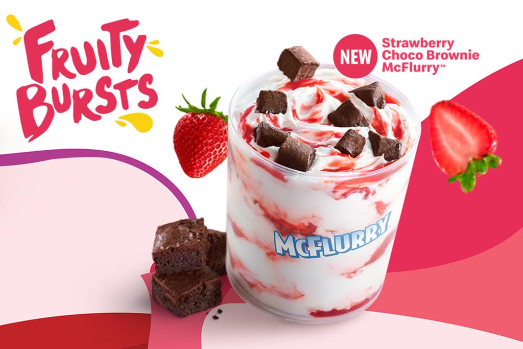 【馬來西亞麥當勞2021】麥當勞馬來西亞限定新甜品 草莓朱古力Brownies雪糕麥旋風