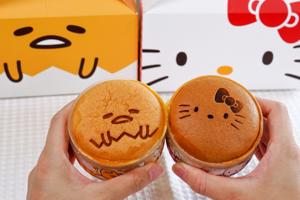 【台灣手信網購2021】Hello Kitty/蛋黃哥布丁燒甜品開箱 可愛卡通圖案/布甸燒3重口感