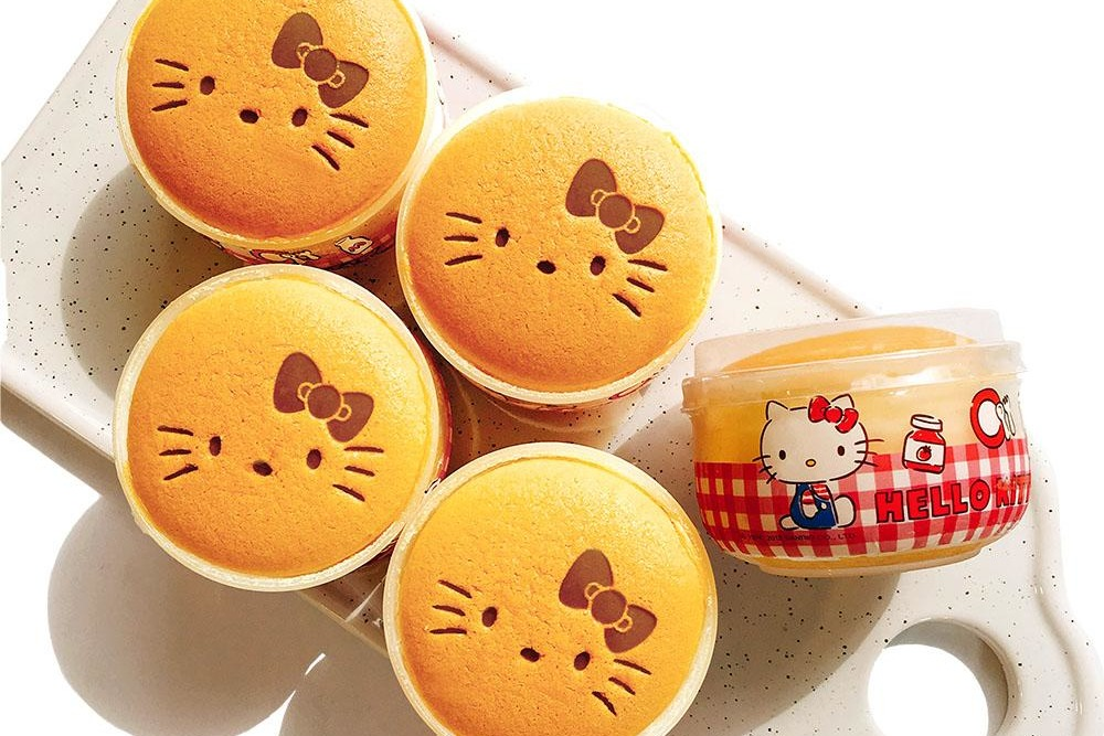 【網購手信】台灣直送可愛卡通造型牛奶布丁燒 Hello Kitty/蛋黃哥造型香滑布丁燒