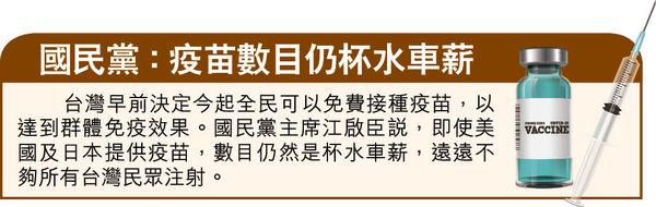 美捐75萬劑疫苗 蔡英文:及時雨 美3議員訪台 北京:反對官方往來