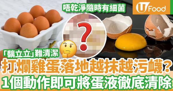 【蛋液清潔】雞蛋打破落地難徹底清潔  日本達人教用1招完美清潔蛋液