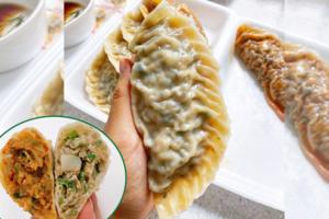 【韓國美食2021】每隻$7!韓國首爾巨無霸足料餃子 重量級比手掌更大件!爆餡肉餃/泡菜餃子