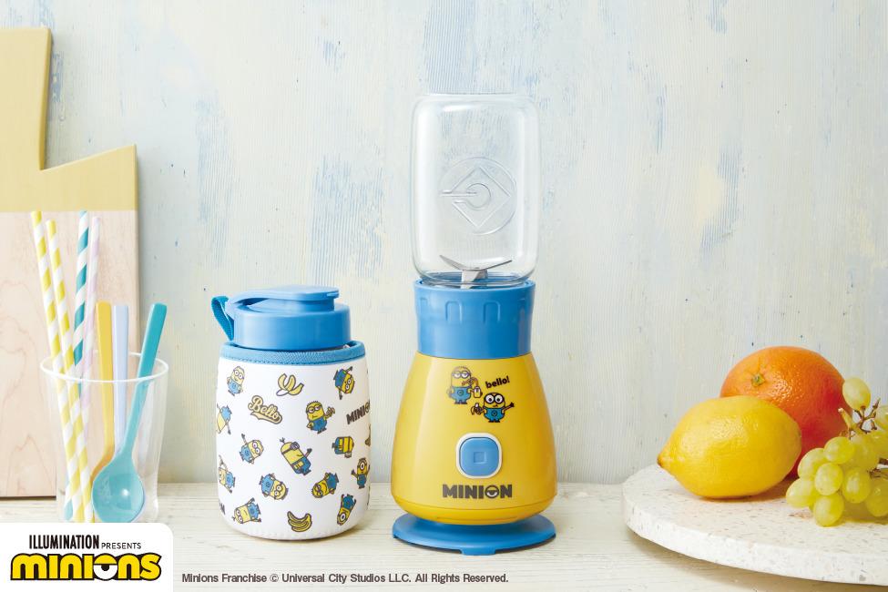 【廚具家品】日本récolte聯乘Minions推出限定新品 輕便果汁攪拌機附送隨行杯蓋+Minions圖案杯套
