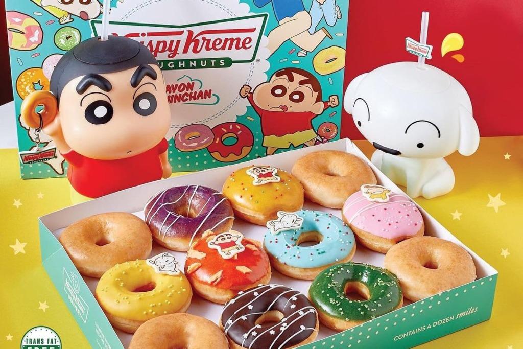 【泰國甜品】泰國Krispy Kreme聯乘蠟筆小新   推出超可愛角色造型冬甩/水杯