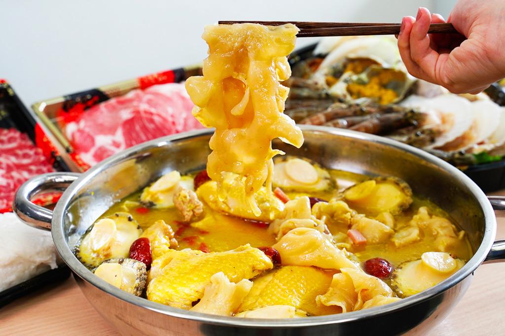 【雞煲外賣】外賣火鍋店推出金湯花膠鮑魚雞煲   超足料大大件花膠/新鮮鮑魚/原隻雞!