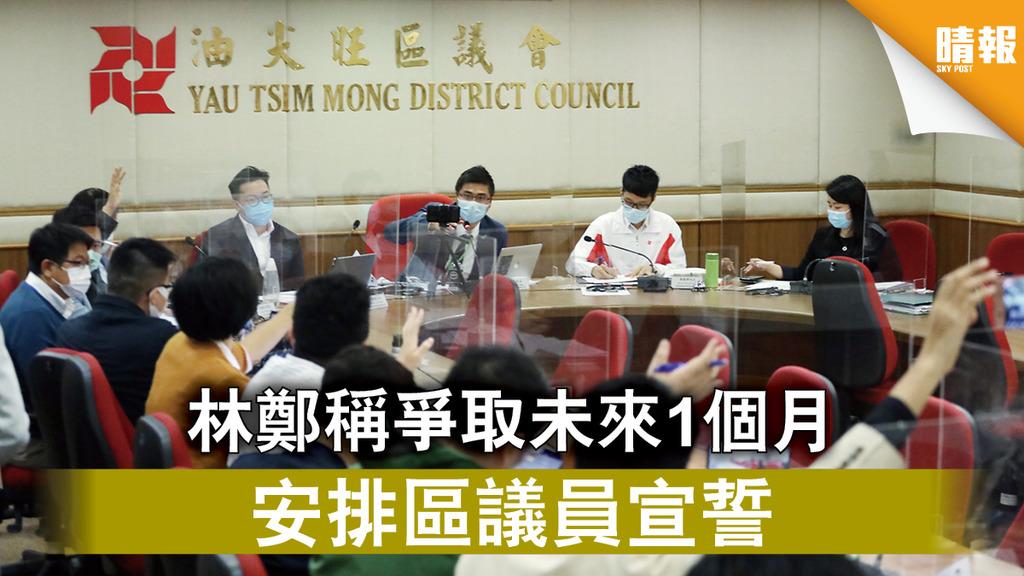 愛國者治港|林鄭稱爭取未來1個月 安排區議員宣誓
