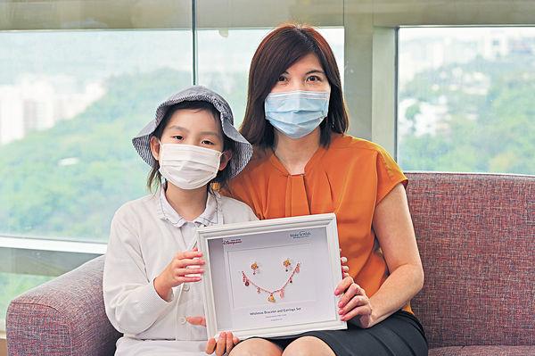 1年逾30次電療化療 從不流淚 10歲抗癌小勇士 設計飾物義賣助病友