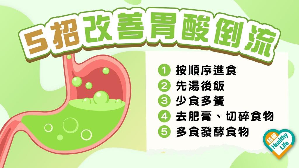 胃酸倒流 │ 多吃煎炸辛辣易胃酸倒流 營養師教5招改善