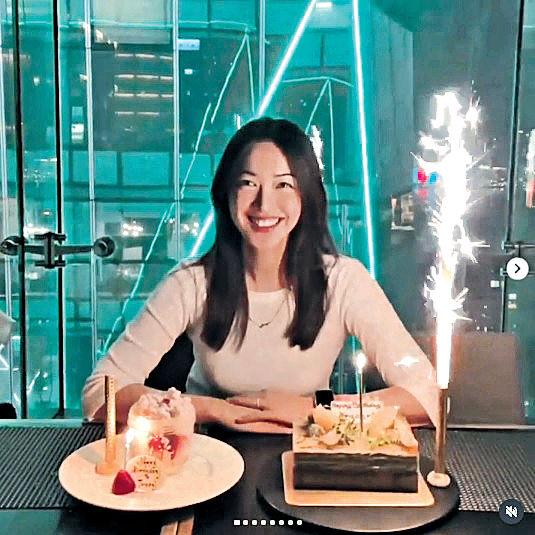 朱千雪慶祝33歲生日 懷孕岑杏賢遮肚現身