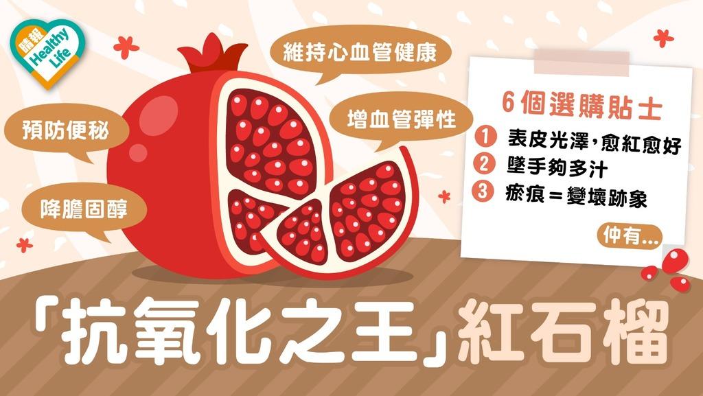 Health Plus│神級水果 紅石榴幫你變靚啲