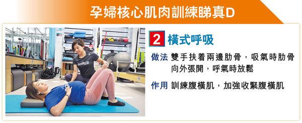 孕婦6式練核心肌肉 唔怕產後大肚腩