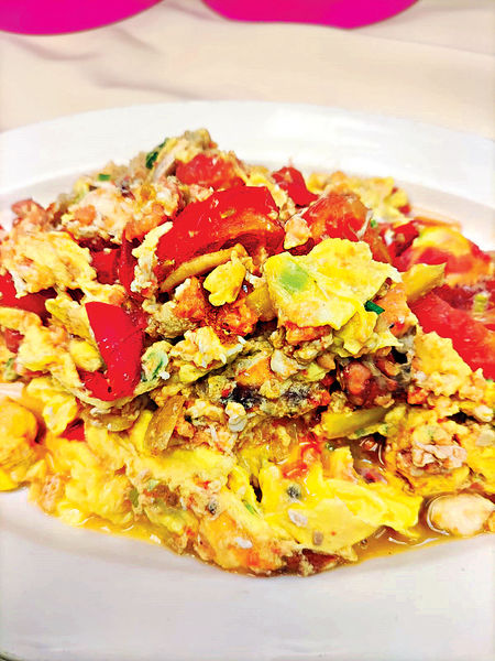 「波」後炮#番茄煮滑蛋蟹蓋肉