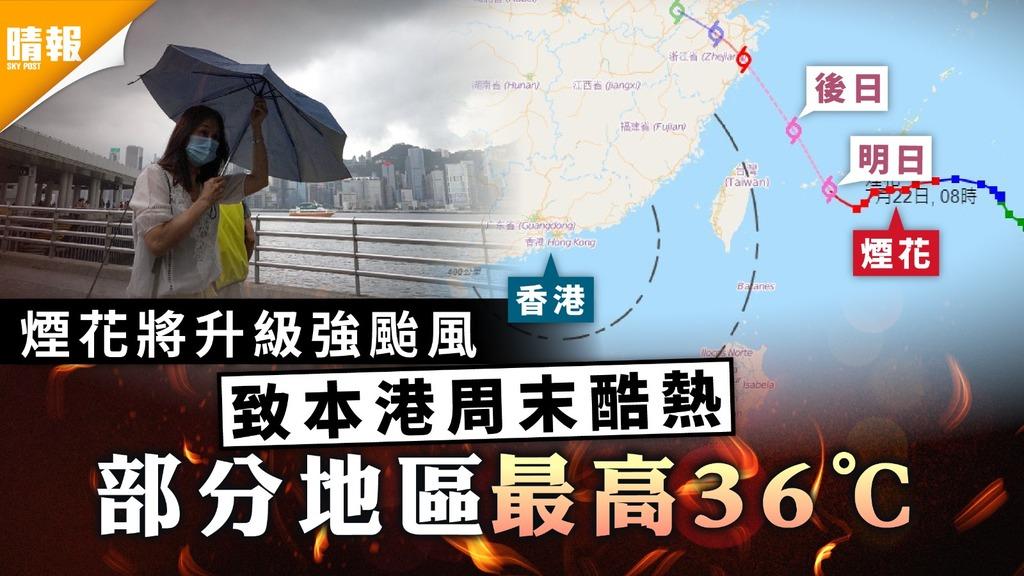 天文台|煙花將升級強颱風 致本港周末酷熱 部分地區最高36℃