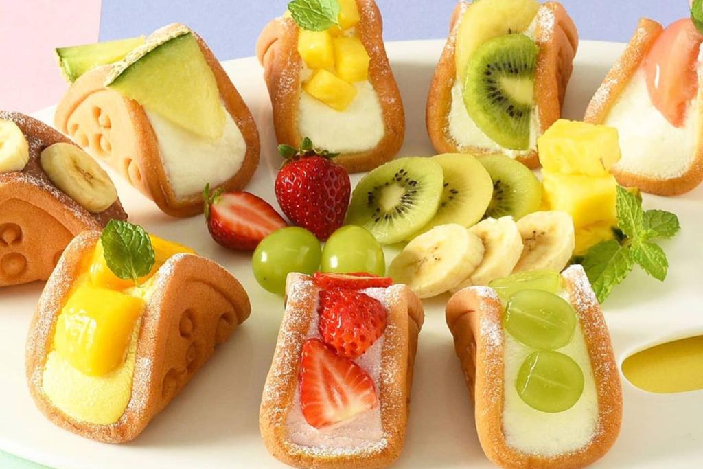 【東京甜品2021】日本水果鮮忌廉窩夫卷甜品 白桃/草莓/芒果/麝香葡萄/哈密瓜等8款口味