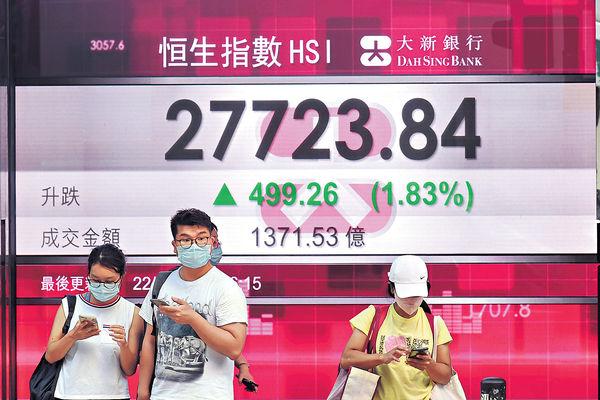 科網金融股齊發力 重越10天綫 港股止3連跌成交未配合