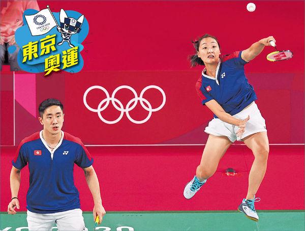 爭議「擦網球」 港乒乓混雙出局 「鄧謝配」今撼德組合 爭羽球混雙8強