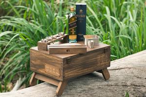 【望月果仁月餅】WOL望月月餅限量版禮盒 木盒包裝/望月焦糖堅果月餅/Johnnie Walker威士忌
