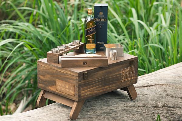 【望月果仁月餅】望月月餅限量版禮盒 木盒包裝/望月焦糖堅果月餅/Johnnie Walker威士忌