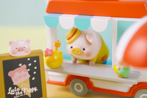 【Lulu豬香港 Lulu豬哪裡買】LuLu豬雪糕車場景組/罐頭豬LuLu冰粒新登場 雪糕造型Lulu豬公仔/方塊豬裝飾冰粒超可愛!