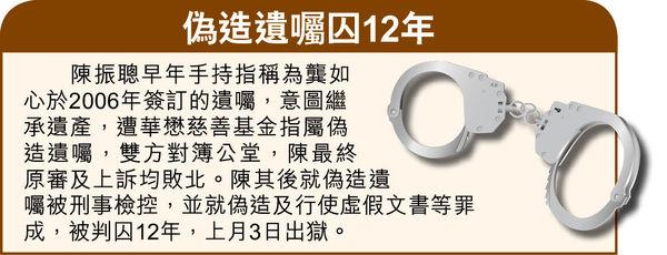 拖欠2840萬訟費 陳振聰遭頒令破產 判後稱無債一身輕