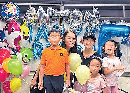 呂慧儀為7歲蟹籽慶祝生日 湯盈盈帶女到賀