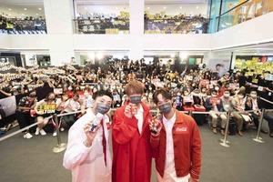 【MIRROR活動】姜濤 x Alton x Dee出席可口可樂宣傳活動  逾千粉絲迫爆海港城