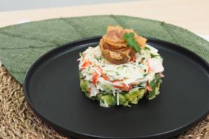 【牛油果沙律食譜】煙三文魚牛油果蟹肉他他食譜 3步簡單做出平民版高級餐廳頭盤