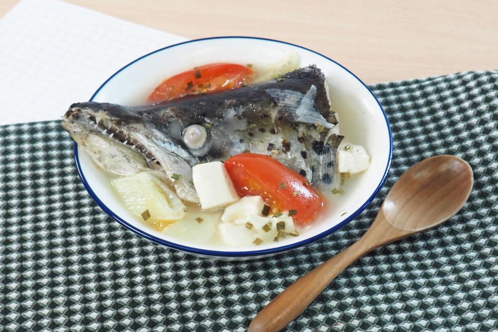 【三文魚頭湯】30分鐘鮮甜滾湯食譜  番茄豆腐三文魚頭湯